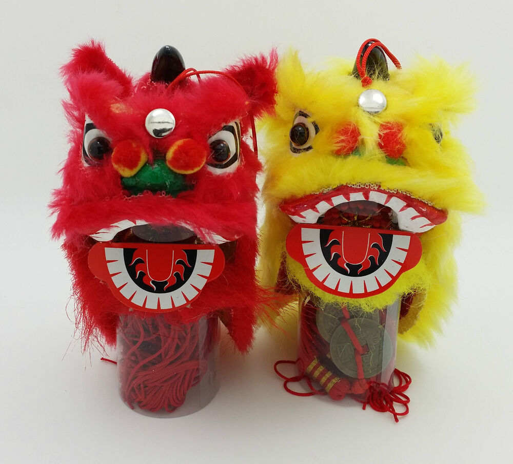 Chinese Lion Dragon with Coins Party Hanging Decoration ...