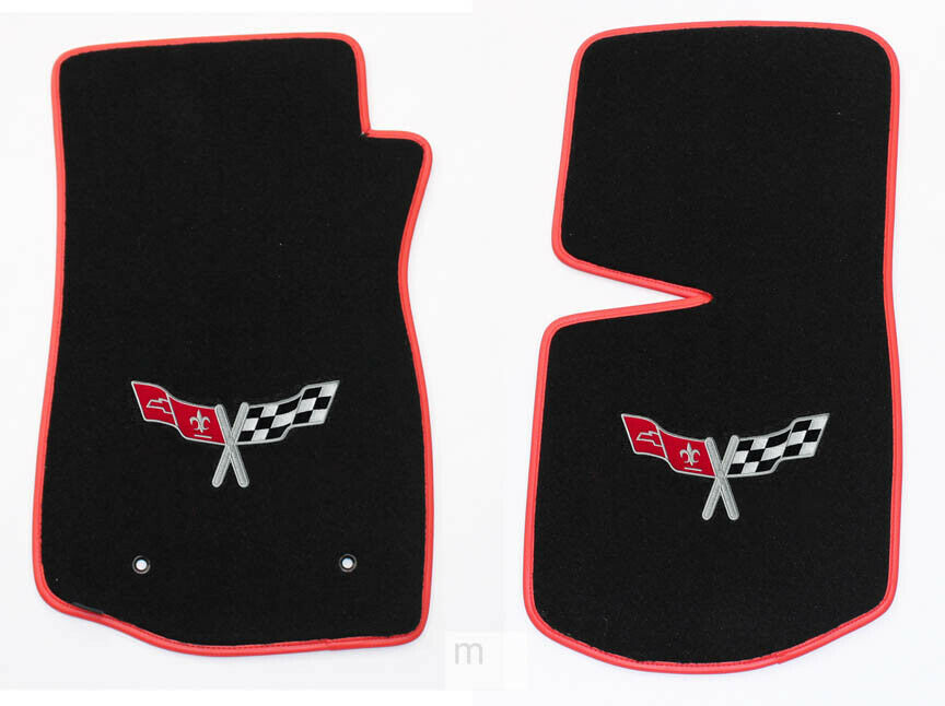 New Floor Mats 1968 1982 C3 Corvette With Embroidered