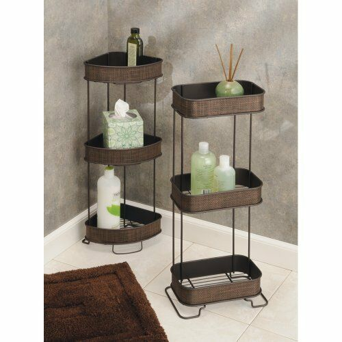 Interdesign Twillo 3 Tier Bathroom Free Standing Corner