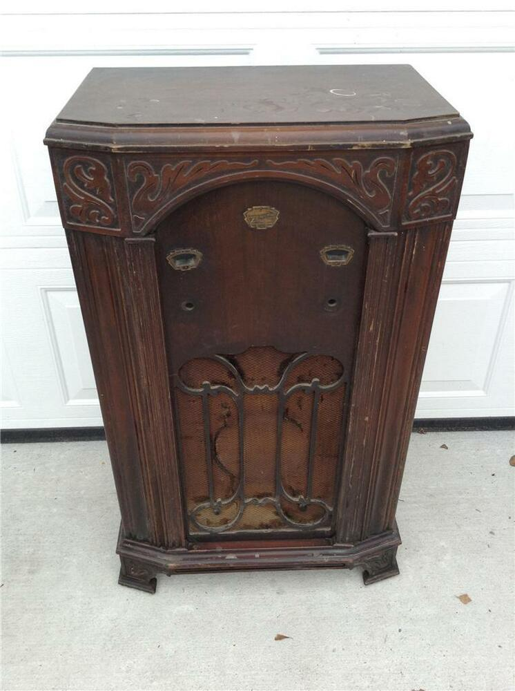 - Antique Zenith Floor Radio Cabinet Walnut Model 750 EBay
