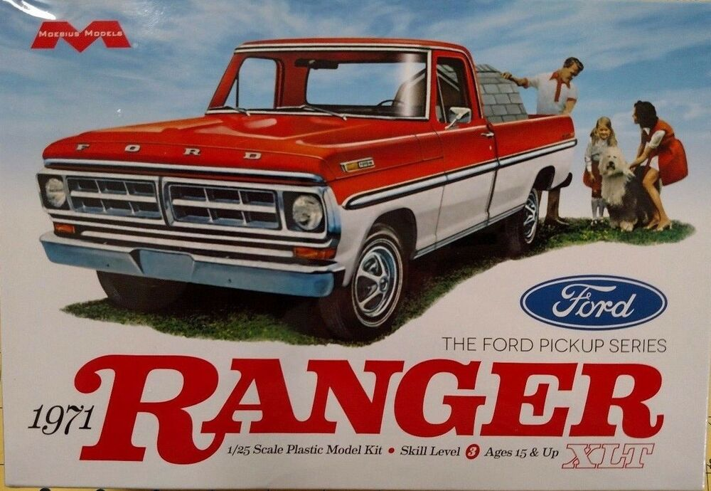 moebius models 1971 ford ranger 1 25 scale model kit. Black Bedroom Furniture Sets. Home Design Ideas