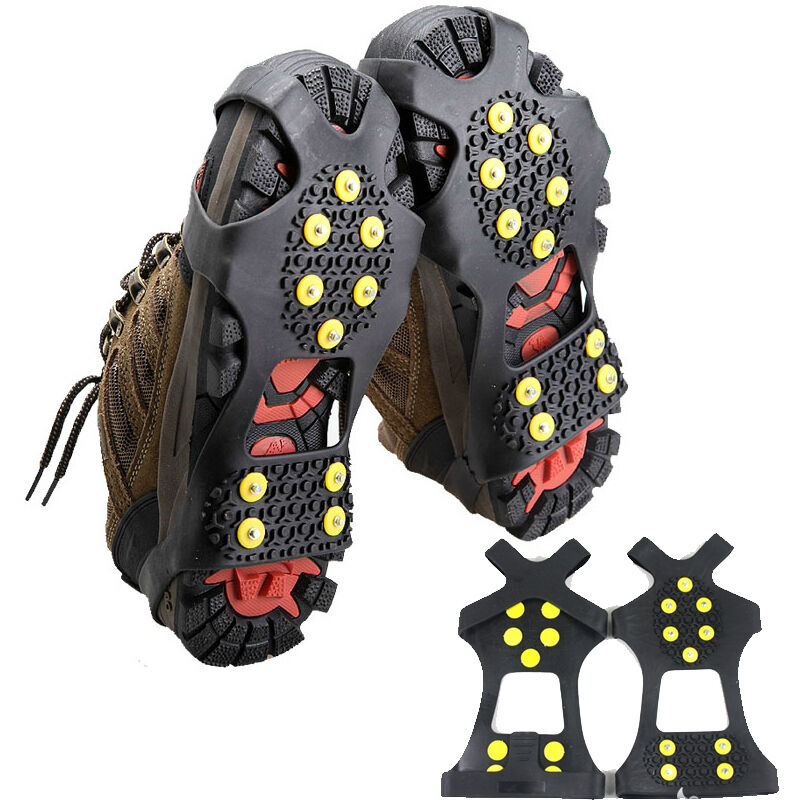 Shoe Boot Ice Snow Cleats Grips Grippers Crampons Sizes S-XL