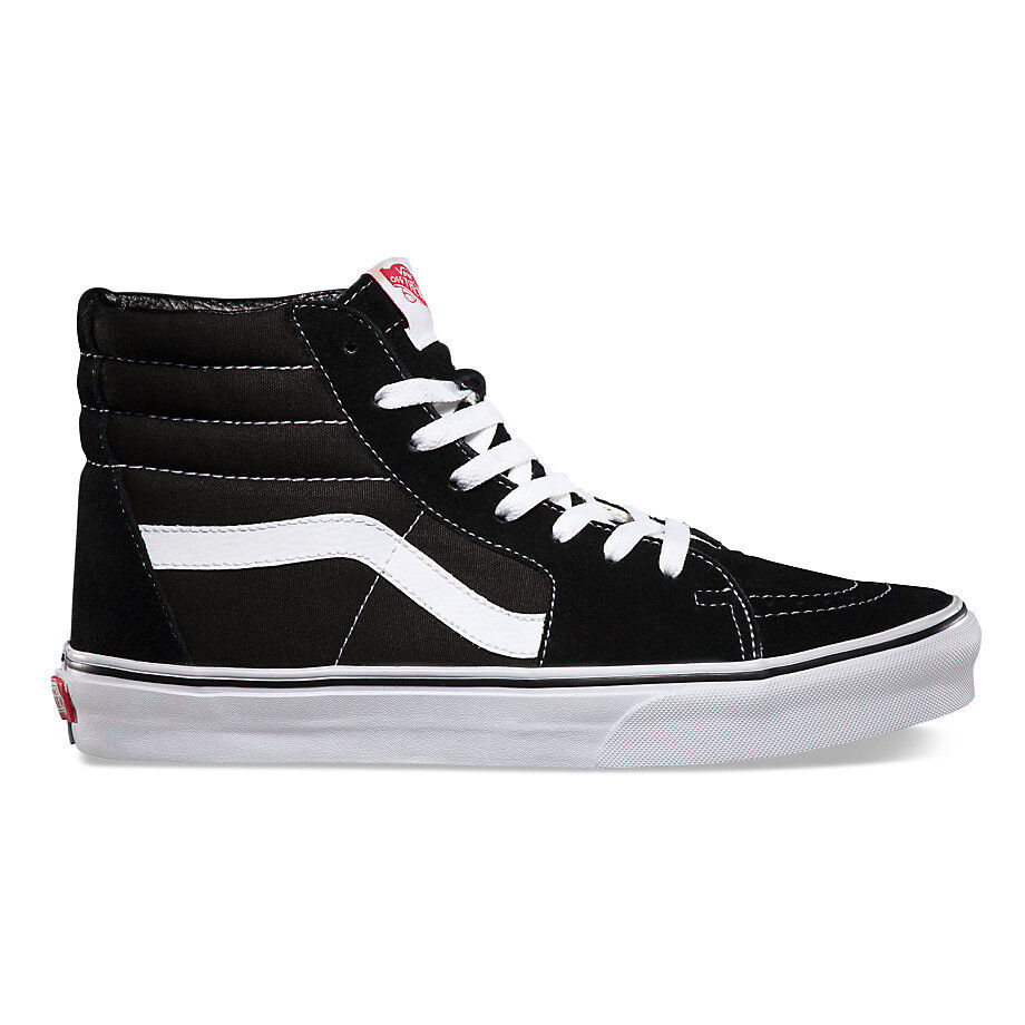 vans sk8 hi black white skateboarding shoes classic vn 0d5ib8c fast shipping ebay. Black Bedroom Furniture Sets. Home Design Ideas