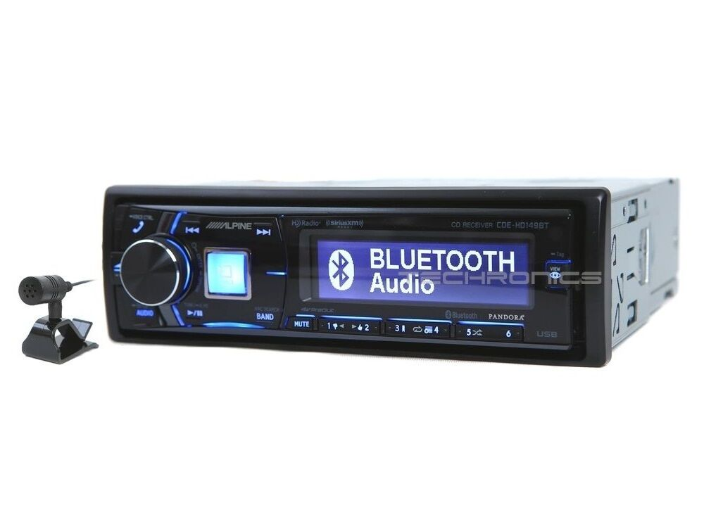 alpine cde hd149bt 2yr wrnty cd mp3 bluetooth car stereo. Black Bedroom Furniture Sets. Home Design Ideas
