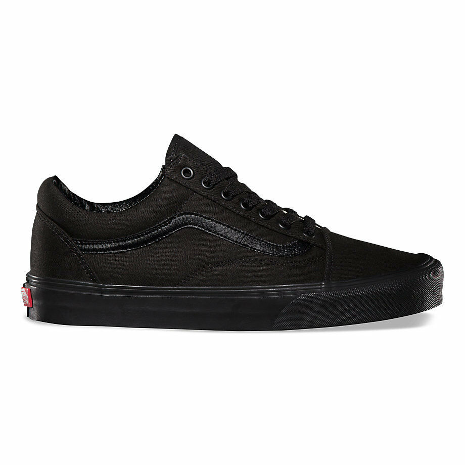 vans old skool blackblack skateboarding shoes classic