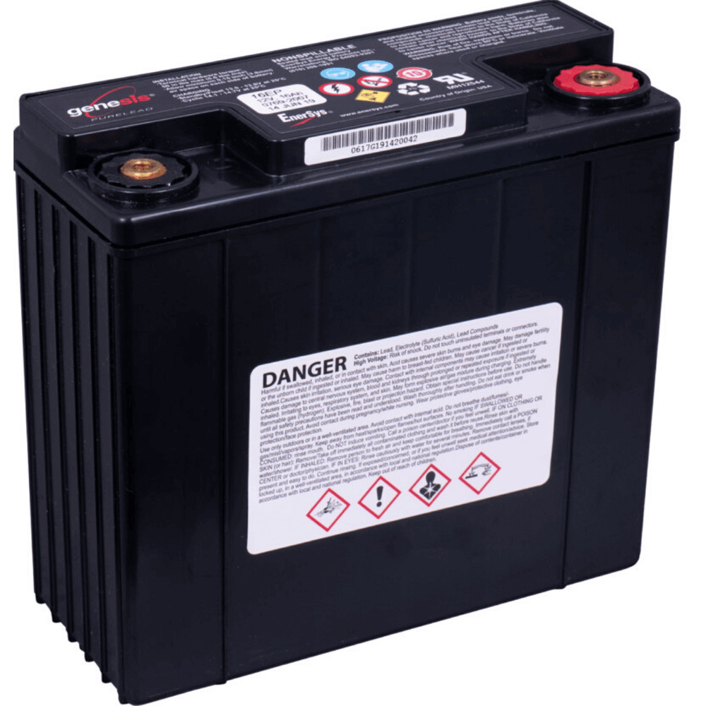 hawker enersys genesis 12ep16 motorradbatterie 16ah 12v ebay. Black Bedroom Furniture Sets. Home Design Ideas