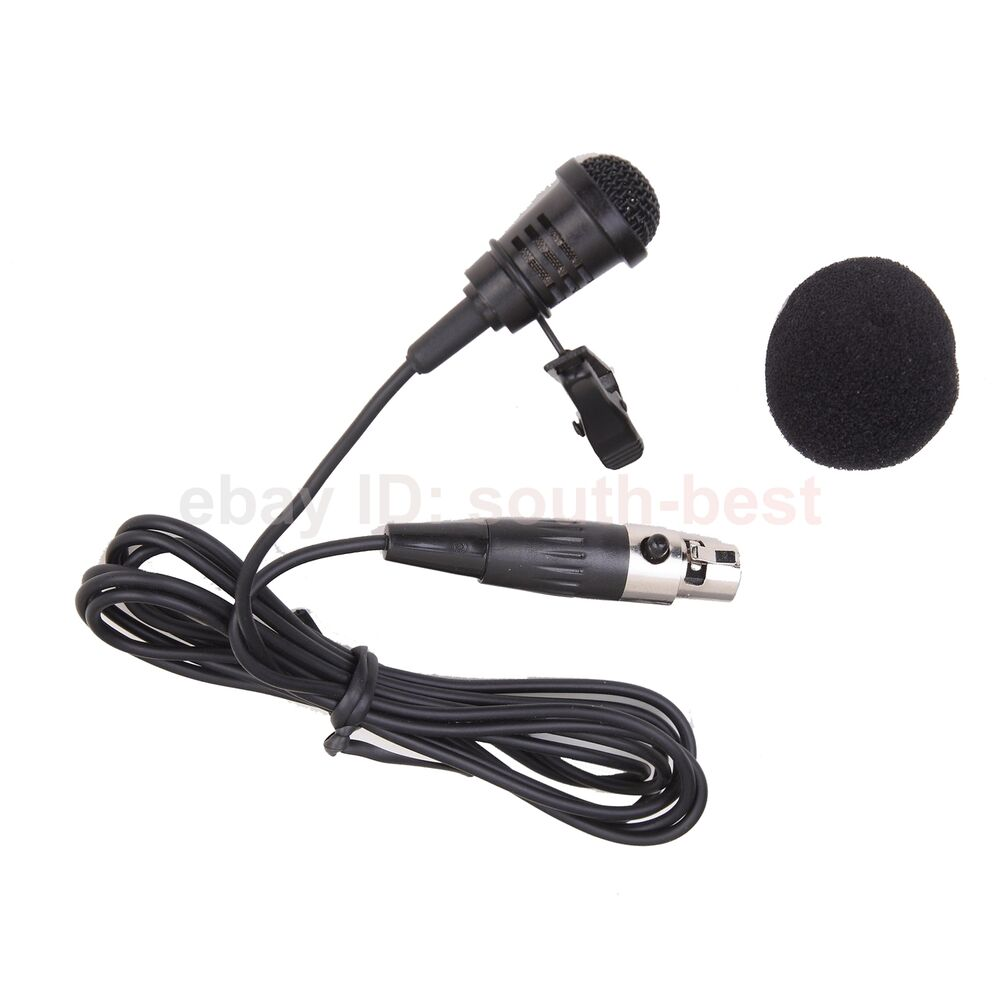 me4 new lavalier microphone lapel clip mic mike for akg samson wireless ebay. Black Bedroom Furniture Sets. Home Design Ideas