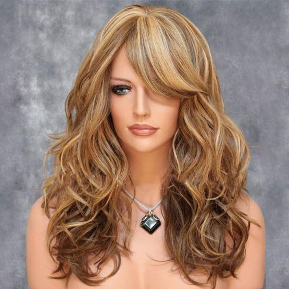 Fashion Women Curly Hair Cosplay Full Wigs With Bangs