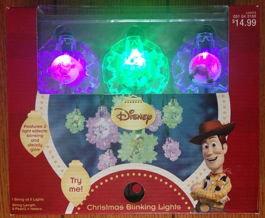 Disney Toy Story Christmas Blinking String Lights Set NEW eBay