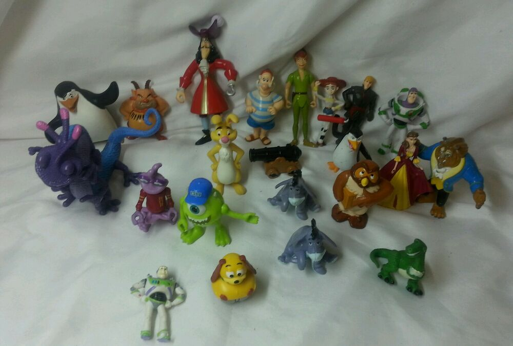 Peter Pan Toys : Disney figure lot cake topper peter pan monsters toy