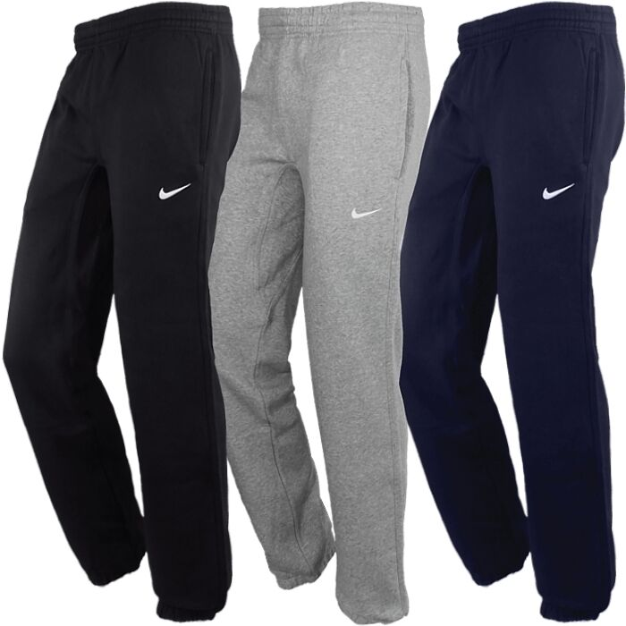 nike club cuffed pant herren fleece jogginghose schwarz grau warm trainingshose ebay. Black Bedroom Furniture Sets. Home Design Ideas