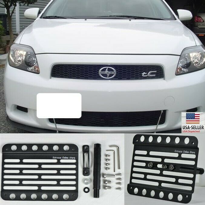 Scion Tc Front License Plate >> For 05-10 Scion tC Tow Hook Bracker Adaptor License Plate ...