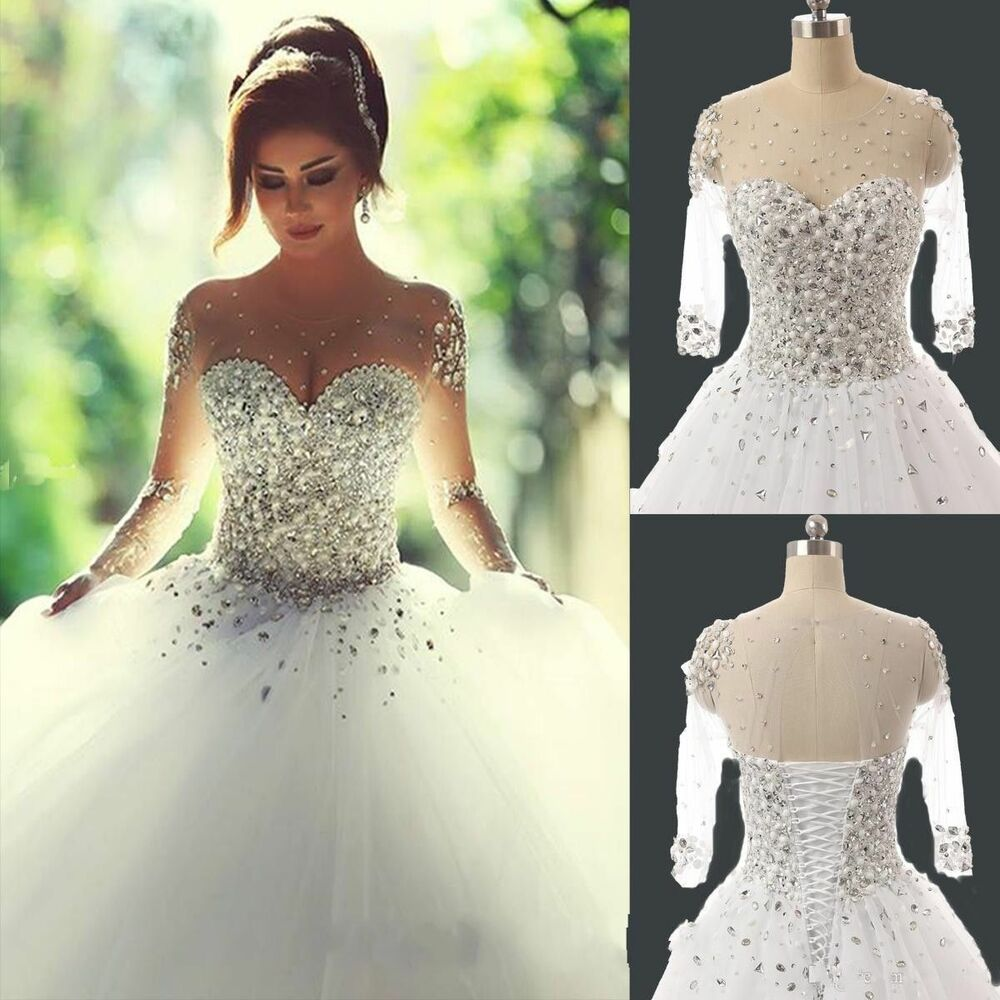 New White Wedding Dress Bride Gown Stock Size 6 8 10 12 14