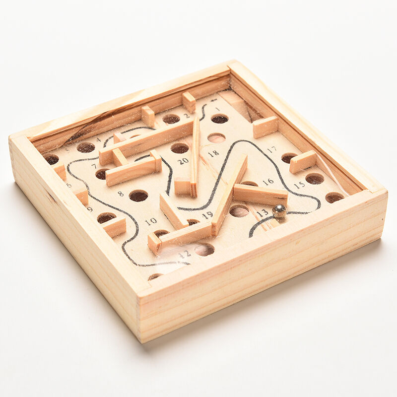 Puzzle Toys Wooden Labyrinth Balance Board Game Children