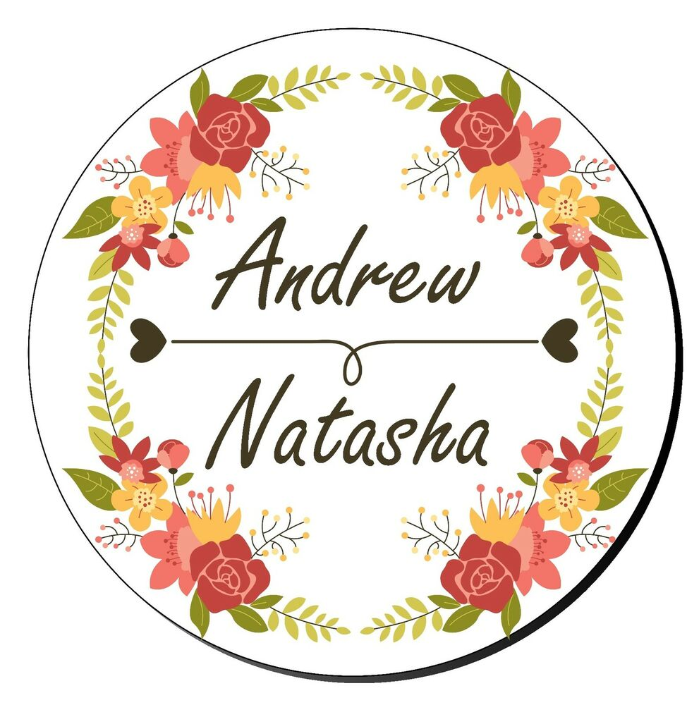 24 personalised wedding engagement mehndi stickers decorative floral border ebay