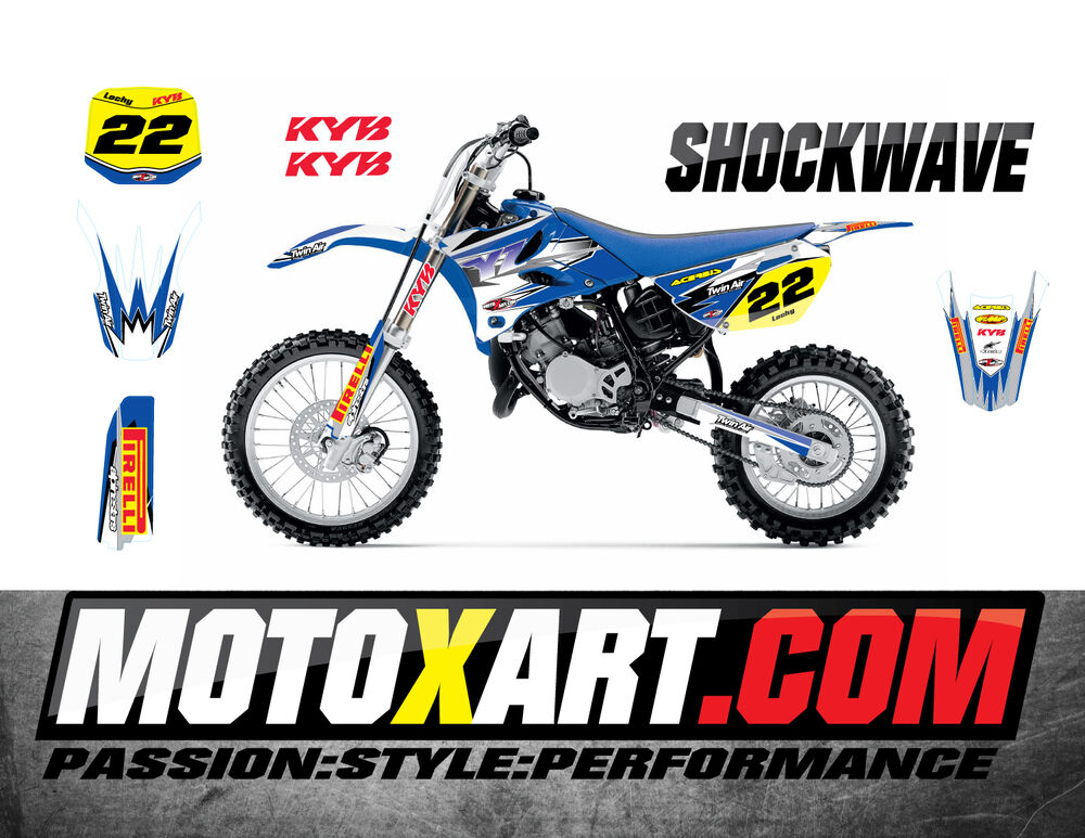 yamaha yz 85 2015 2016 shockwave style stickers kit full custom graphics ebay. Black Bedroom Furniture Sets. Home Design Ideas