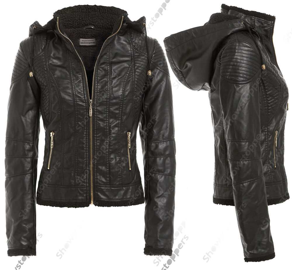 black leather jackets for women with hood. Black Bedroom Furniture Sets. Home Design Ideas
