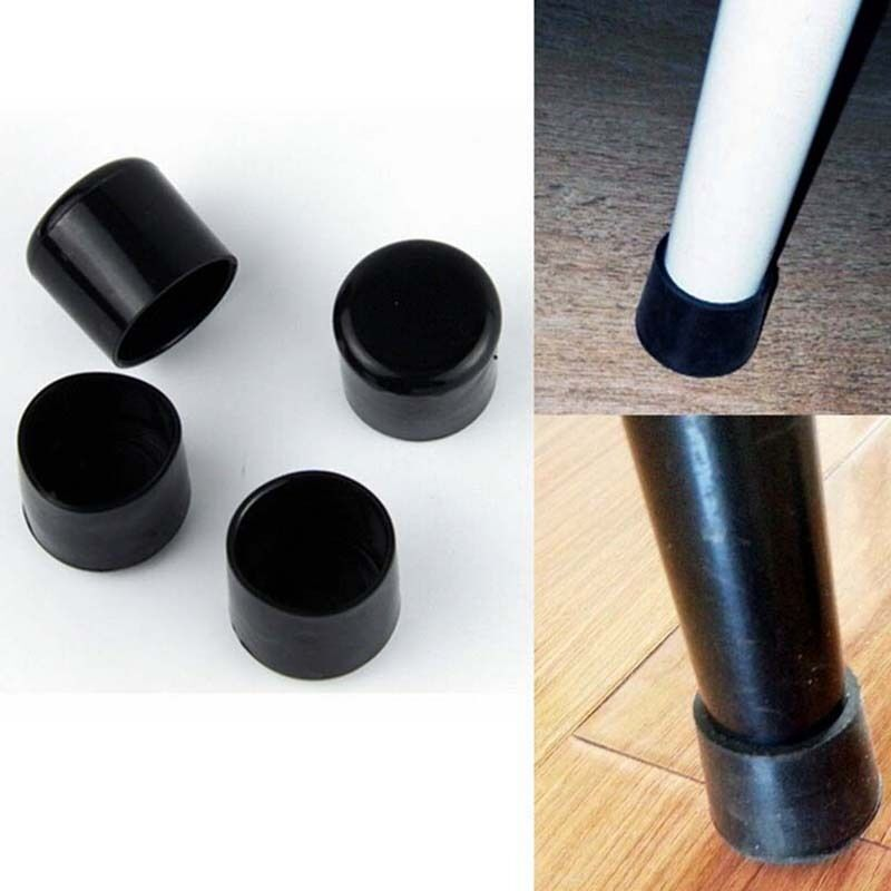 4 X Black Table Feet Protector Furniture Pvc Plastic Chair Leg Pad Tip Covers Ebay
