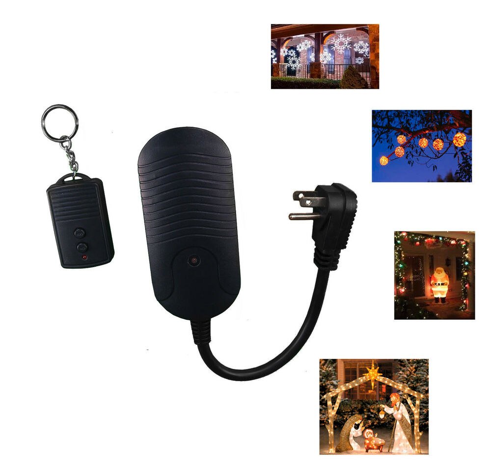 Outdoor Lights Remote Control: Indoor Outdoor Wireless Christmas Light Remote Control