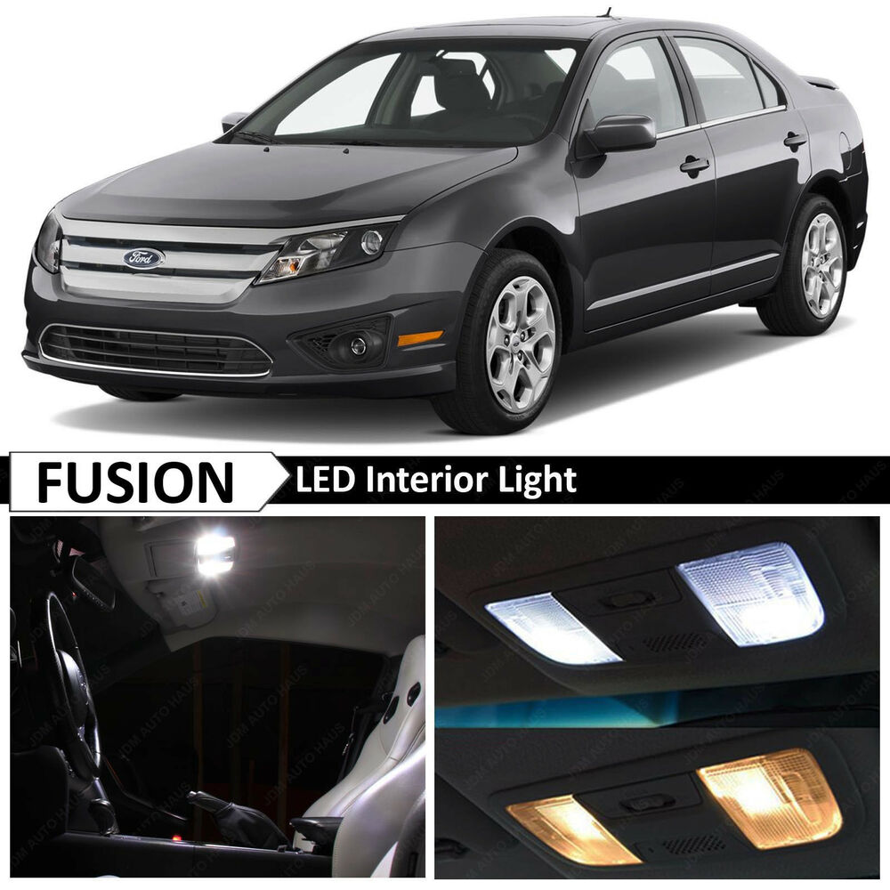 10x white interior led light package kit for 2006 2012 ford fusion tool ebay. Black Bedroom Furniture Sets. Home Design Ideas