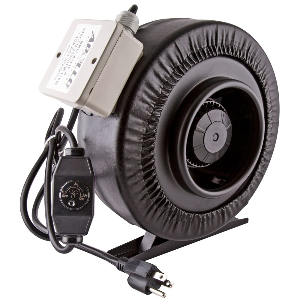 4 Inch Fan : Apollo horticulture quot inch inline duct fan w built
