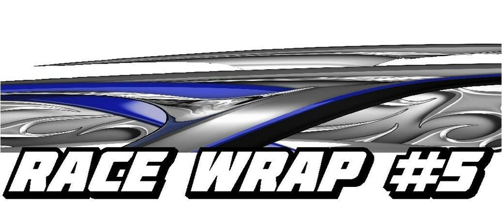 Race Car Graphics 5 Half Wrap Vinyl Decal Imca Late