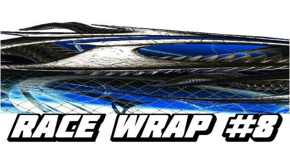 Race Car Graphics 8 Half Wrap Vinyl Decal Imca Late