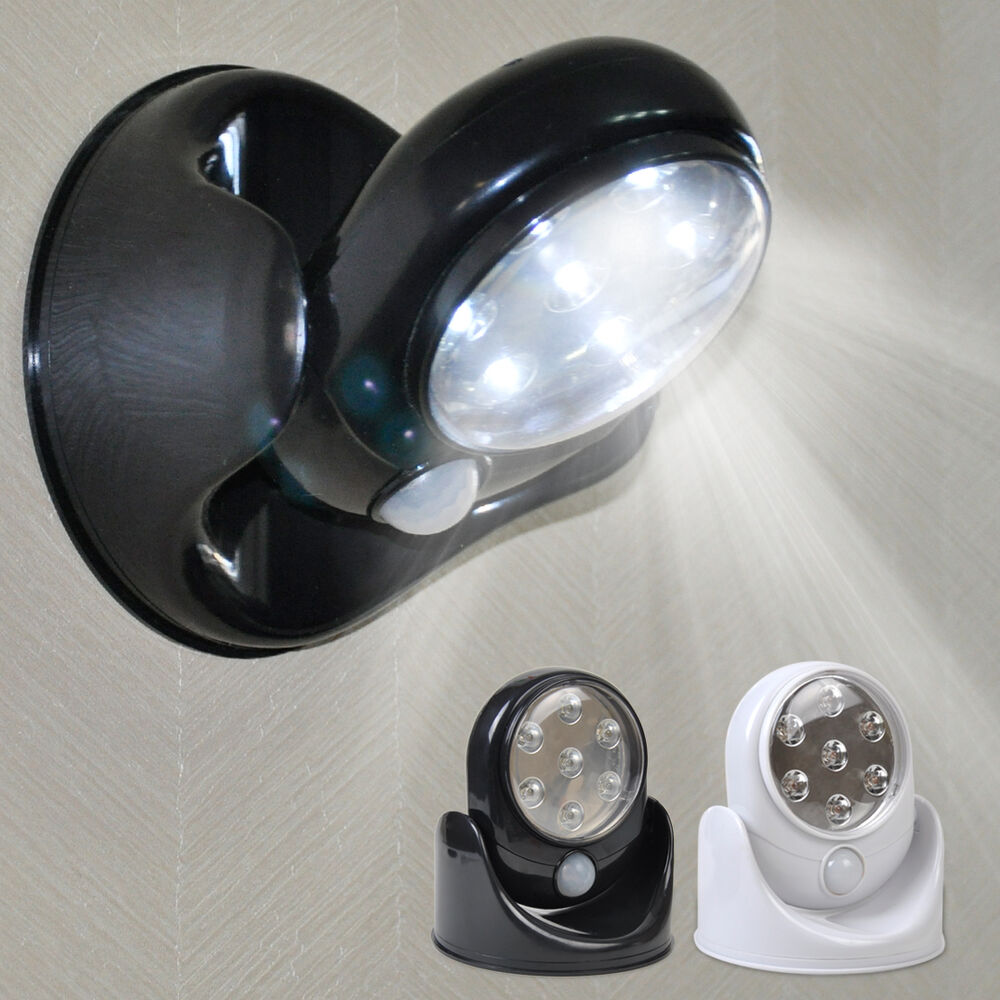 360 pir sensor motion 7 led security light wall cupboard. Black Bedroom Furniture Sets. Home Design Ideas