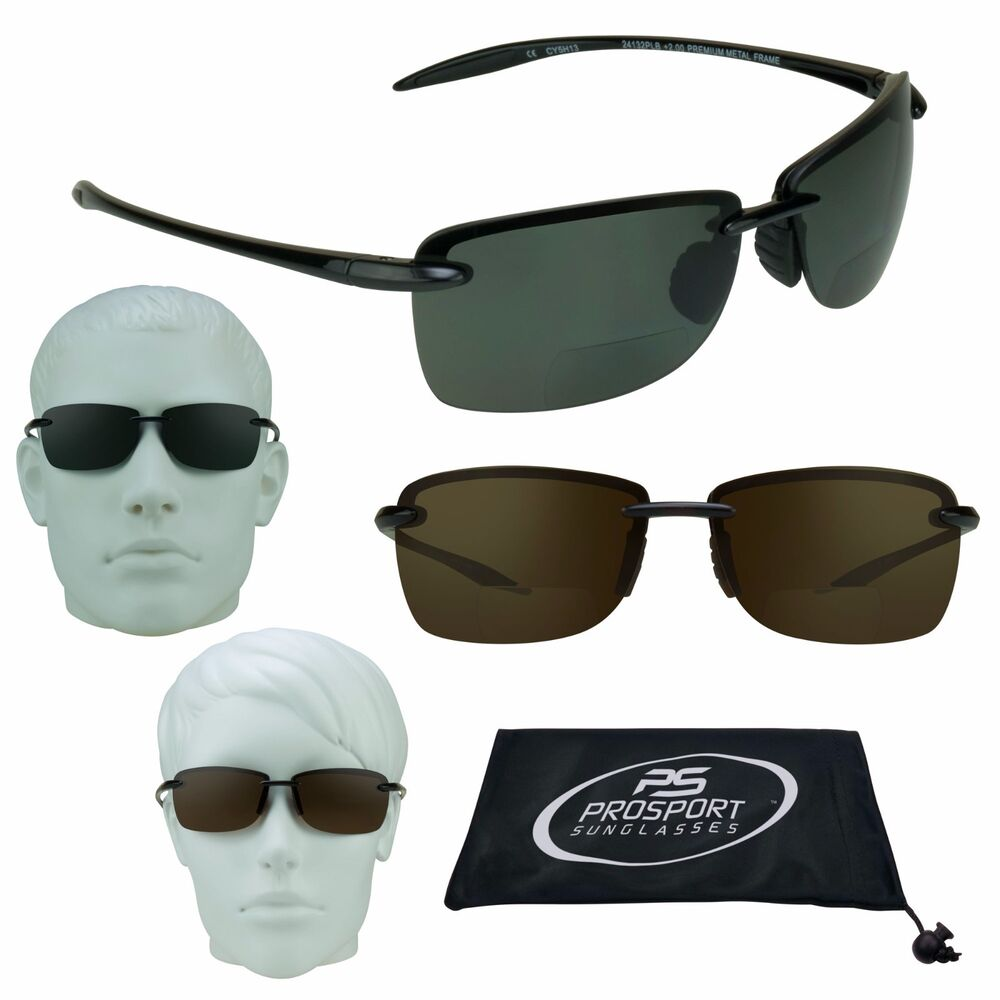 a7606ec7b0b Details about Polarized Bifocal Sunglasses Glasses Tinted 1.50