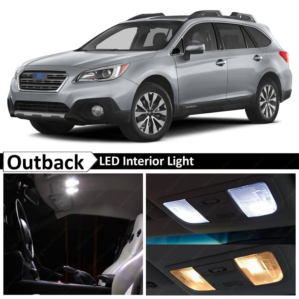 14x 2015 2017 subaru outback white interior led lights. Black Bedroom Furniture Sets. Home Design Ideas