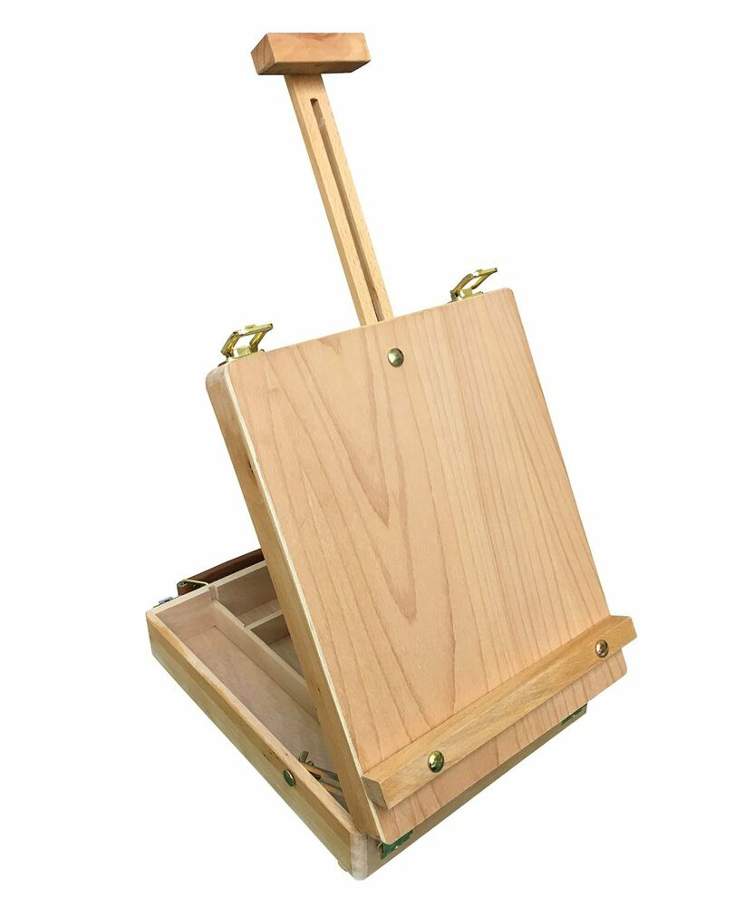 DALBY Wooden Artist's Painting & Drawing Table Top Box
