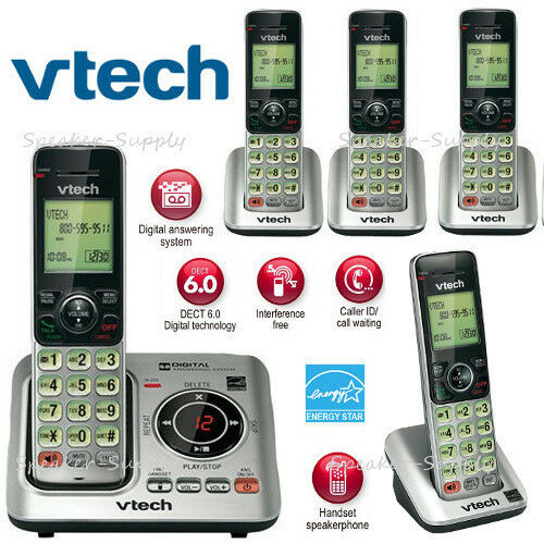 Vtech DECT 6.0 5 Cordless Handset Home Phone System ID