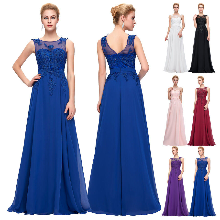 Us 2 24w plus size long evening prom party homecoming for Ebay wedding bridesmaid dresses