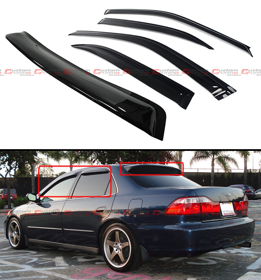 98 2002 6th gen honda accord sedan jdm smoke rear roof for 2000 honda civic rear window visor