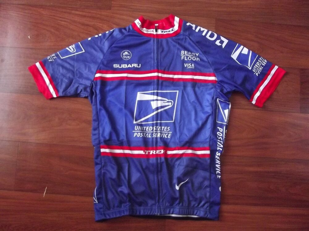 Brand new team usps us postal cycling jersey armstrong ebay for Usps t shirt shipping