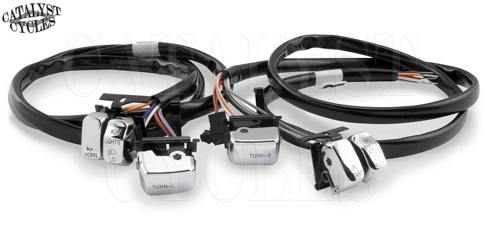 Handlebar wiring kit quot for harley chrome switches