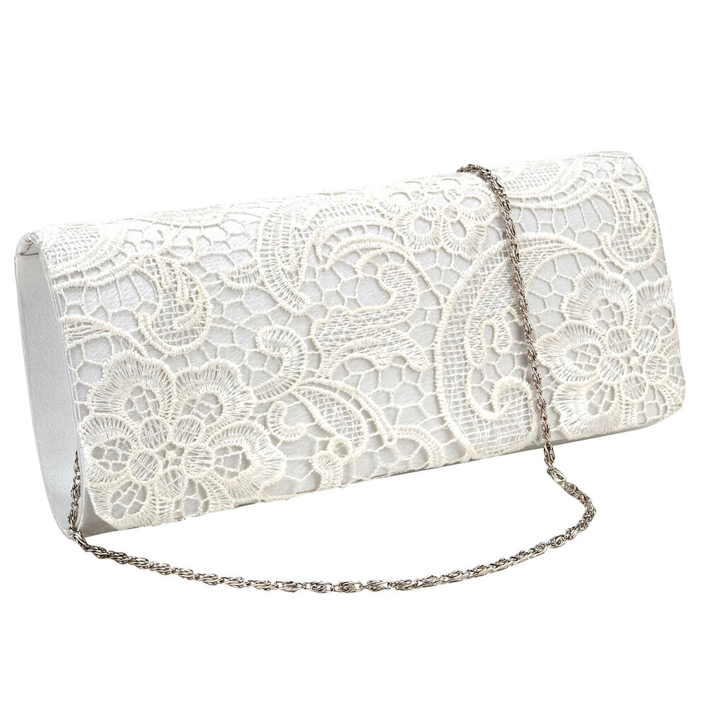 Navy Blue Floral Lace Women Bag Evening Party Prom Clutch Bridal Purse Handbag | EBay