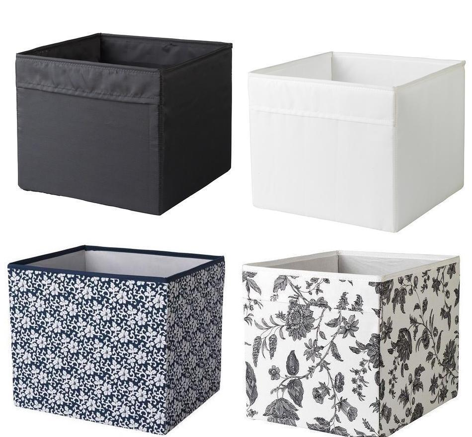Ikea gopan mini drona storage box fabric wipe clean black - Ikea portaoggetti ...