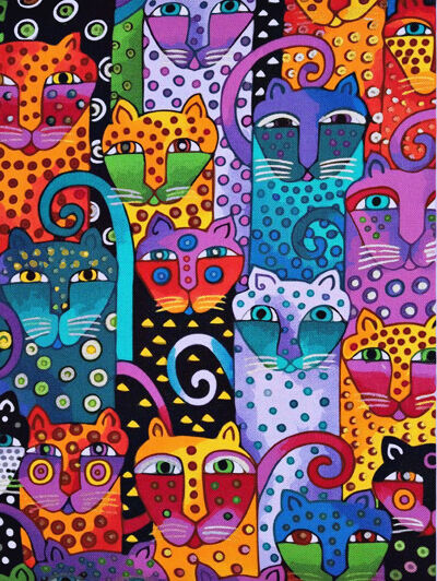 Acrylic Painting By Number Kit Abstract Cat Faces Lovely