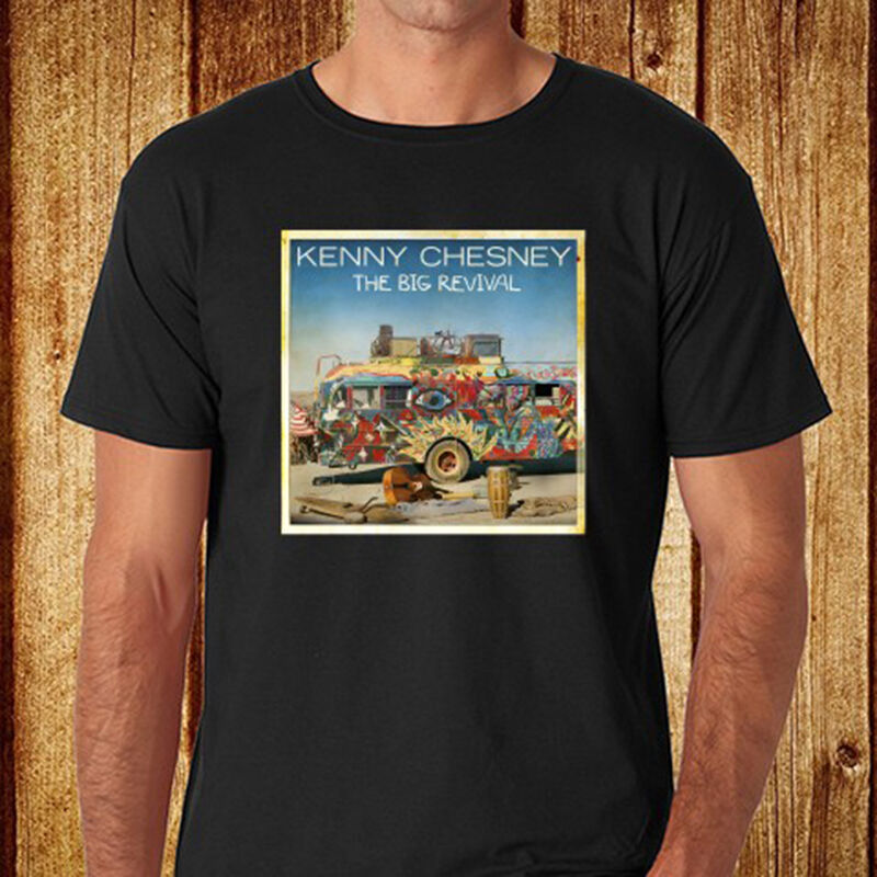 New kenny chesney the big revival country music men 39 s for Xxl band t shirts