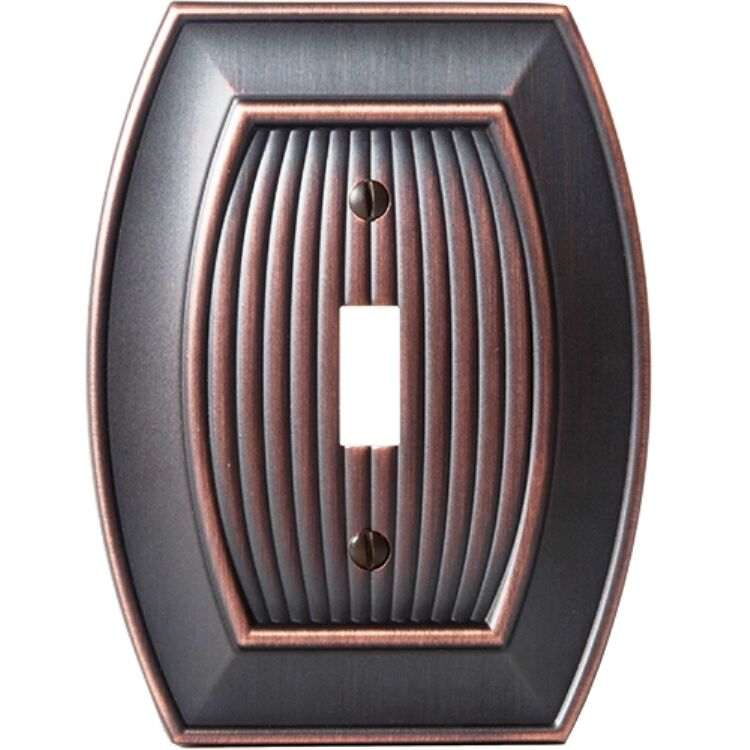 oil rubbed bronze amerock wall plate cover toggle rocker plug allison collection ebay. Black Bedroom Furniture Sets. Home Design Ideas