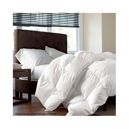 goose down alternative comforter white set size twin queen king ebay. Black Bedroom Furniture Sets. Home Design Ideas
