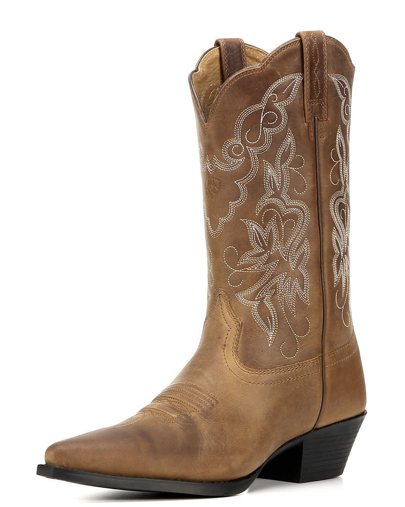Perfect Corral Womens Jute Inlay Square Toe Cowboy Boots Brown
