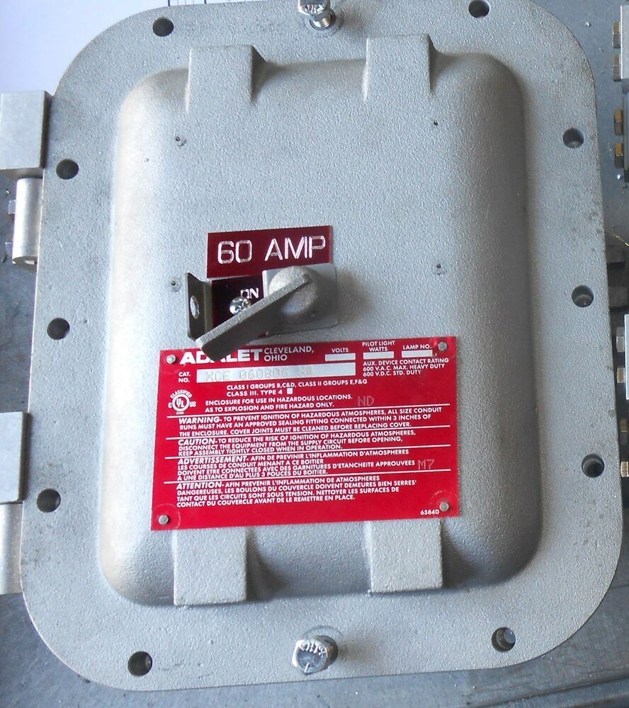 Explosion Proof Fuse Box : New adalet explosion proof amp abb disconnect non fused