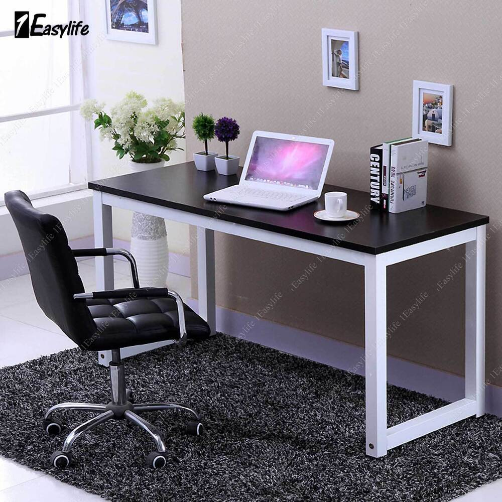 Computer Desk Pc Laptop Wood Table Home Office Study: Office Computer Laptop Wooden Desk Study Table Workstation