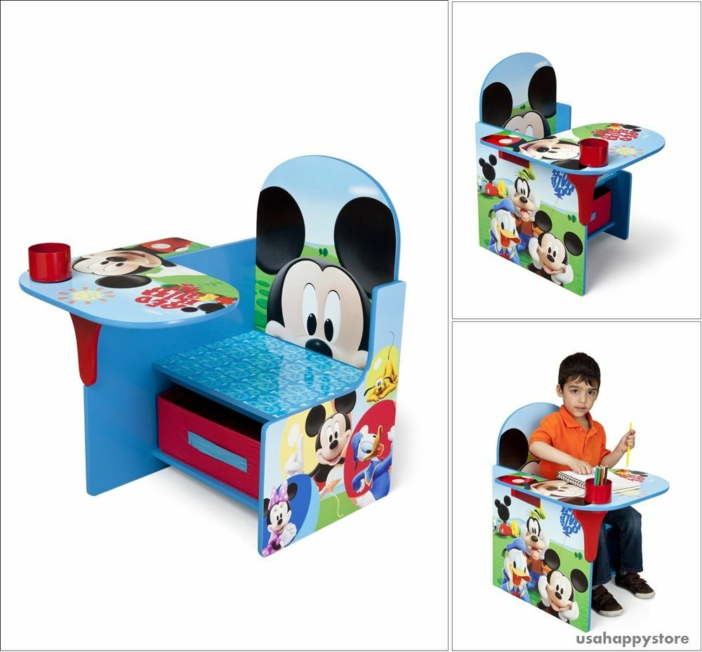 kids chair desk disney mickey mouse play table seat storage toddler furniture 790946039911 ebay. Black Bedroom Furniture Sets. Home Design Ideas