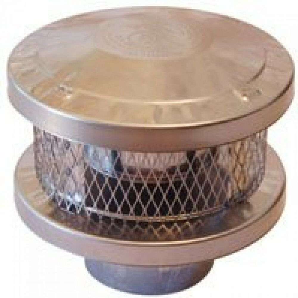 Amerivent 8hs Rcs 3 Wall Round Vent Cap 8 Inch Stainless