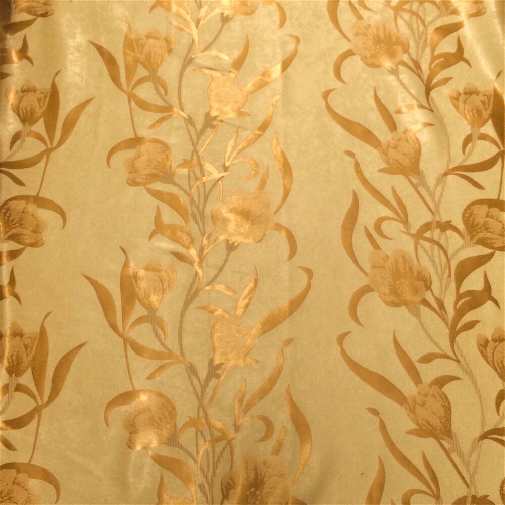 Gold Damask Velvet Jacquard Brocade Fabric 118 Quot Wide By