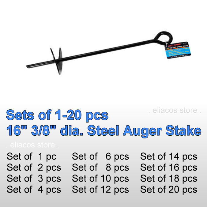 Auger Anchors For Carports : Quot steel auger anchor ground stake secure canopy