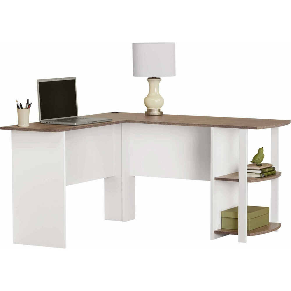 Computer desk l shaped corner table furniture laptop home for Home office workstation desk